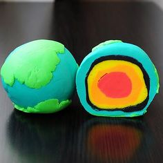 Earth's Layers Play-doh Model