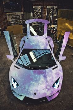 worldfam0us:  auerr:  Matte Galaxy AventadorYou know you want it.  bringing them back lol