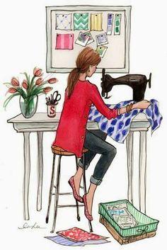Resultado de imagen de mujer cosiendo