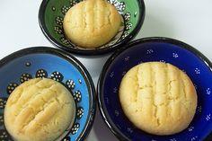 Bolachas de manteiga e amêndoa