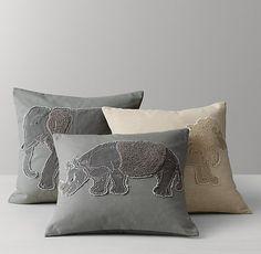 Bouclé Safari Animal Pillow Cover & Insert