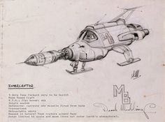 UFO_Concept_art_by_Derek_Meddings.jpg 600×296 pixels  Travel Back to the Future in UFO Concept Art by Keith Wilson, Derek Meddings and Mike Trim http://filmsketchr.blogspot.com/2014/08/travel-back-to-future-in-ufo-concept.html