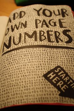 wreckingthisbook:  Add your own page numbers.