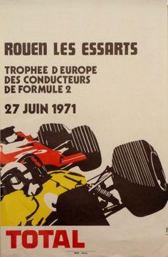 Rouen Les Essarts F2 vintage poster  by Lasgi F.