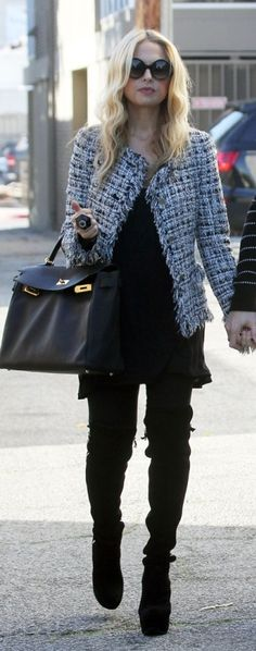 I love how Rachel Zoe styles a Chanel jacket to be look modern and so chic.