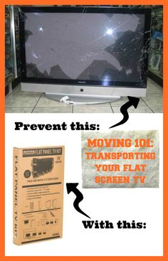 When packing your precious flat screen TV for moving day, make sure you use a Flat Panel TV Kit | Packing Tips
