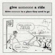 Give someone a ride