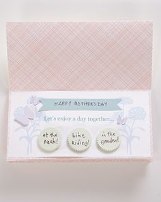 Create a coupon book of promises and activities to give to mom on Mother's Day.