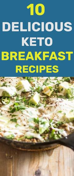 These 10 delicious keto breakfast recipes will make sure you start your day on the Keto diet just right. These recipes are simple, convenient and make sure you'll be looking forward to your Keto breakfast. Breakfast Wraps, Low Carb Breakfast, Breakfast Recipes, Keto Cereal, Keto Diet Guide, Ham And Eggs, Baked Eggplant, Creamy Cauliflower, Keto Pancakes