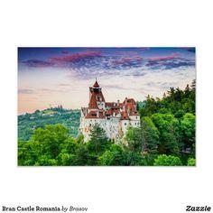 Bran Castle Romania Poster - decor gifts diy home & living cyo giftidea Verona, Bran Castle Romania, Romeo Y Julieta, Artwork Pictures, Custom Posters, Custom Framing, Print Design, Prints, Bucharest