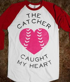 Skreened.com FOR CARDINALS GAMES SINCE I LOVE ME SOME YADI!! $34.99 The Catcher Caught My Heart (Baseball Tee)