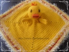 Crochet Ducky Blanket lovie Inspiration ~ pattern seems to have disappeared from the website