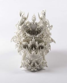 Impressive ceramic skulls by Katsuyo Aoki| ‪Katsuyo Aoki, porcelain skulls, ceramics, artistic skulls|for more inspirations or amazing pictures check out: http://www.bocadolobo.com/en/inspiration-and-ideas/