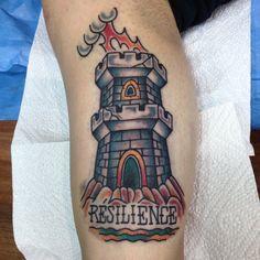 Chaini traditional tattoo tower