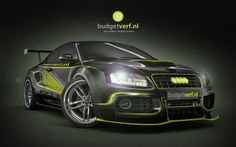 Beeldbewerking Audi A5 in Budgetverf style!
