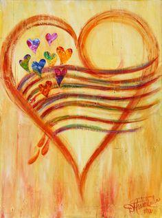 Heart Art Prints | Debbie Marie Arambula | Master Contemporáneo de Color | Campbell, CA