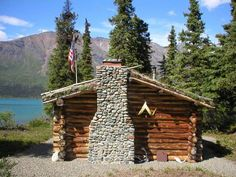 Dick Proenneke's chimney was handmade with rocks he gathered over time whenever he canoed down the river.