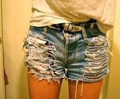 Cut Up Jean Shorts - The Else