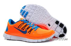 free shipping 2d49c 8cae8 Nike Free 5.0+ Total Orange Blue Hero Black Mens Running Shoes TopDeals,  Price: $66.09 - Adidas Shoes,Adidas Nmd,Superstar,Originals