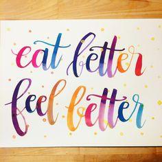 Eat better feel better @ensigninsights @letteringwithv @maria.eliza.lettering @thetinymc #healthlettering #calligraphy #calligraphie #moderncalligraphy #brushcalligraphy #brushlettering #typography #handtype #handlettering #word #font #lettering #handlettered #handwriting #brushlettered #letteringchallenge #dailylettering #calligraphylove #design #art #inspiration #followme #brushpen #watercolor #brushscript #handwritten #lettering #scriptlettering #calligritype #goodtype