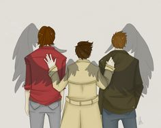 Okay small details but I like how Cas is just resting his hand on Sam but holding onto Dean.