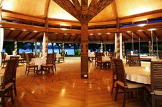 """In Fijian, our """"House of Dining"""" translates as """"Vale-Ni-Kana"""". Just meters from our pristine beach, you enjoy a 270 degree of the ocean and tropical gardens. What a magical setting for your evening meal. What would be the perfect supper in paradise for you and that special person sitting across from you?"""