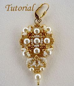 Gold and Ivory Earrings- beautiful bridal-wear! $6.00