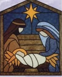 love this pattern made one very similar for wall hanging The Virginia Quilter - Quilting Patterns - Designs by Edna Quilt Patterns - Stained Glass Manger Scene Quilt Pattern Stained Glass Quilt, Stained Glass Designs, Stained Glass Projects, Stained Glass Patterns, Christmas Nativity Scene, Christmas Art, Nativity Scenes, Christmas Quilt Patterns, Christmas Quilting