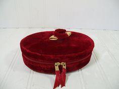 Vintage Christmas Red Velvet Petite Travel Jewelry by DivineOrders