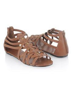 Studded Gladiator Sandals - StyleSays
