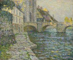 Henri Eugène Augustin le Sidaner, MATIN GRIS, MORET, 1918