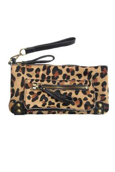 cheetah printed clutch