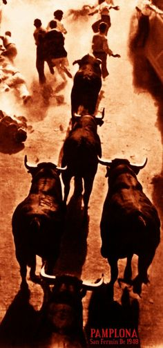 "Canvas Art Poster 12/""x 24 Bullfighting Vintage Poster #14"