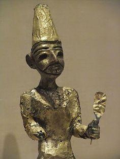 Figurine of the Canaanite God El from Megiddo (Modern Israel) Stratum VII Late Bronze II (1400-1200 BCE) |