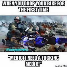 Best Riding Bike Quotes So True 46 Ideas Motorcycle Memes, Motorcycle Bike, Dirtbike Memes, Motocross Funny, Biker Chick, Biker Girl, Bike Humor, Gs500, Car Memes