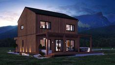 Kärntenhaus 4.0 BIRKE. Variation 5. Mehr Infos unter office@kaerntenhaus.com. Office, Modern, Cabin, House Styles, Home Decor, Birch, House, Homemade Home Decor, Cabins