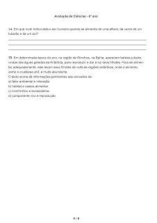 PORTAL ESCOLA: CIÊNCIAS 6° ANO ATIVIDADES AVALIAÇÕES VERIFICAÇÕES TESTES PROVAS EXERCÍCIOS PARA IMPRIMIR IV