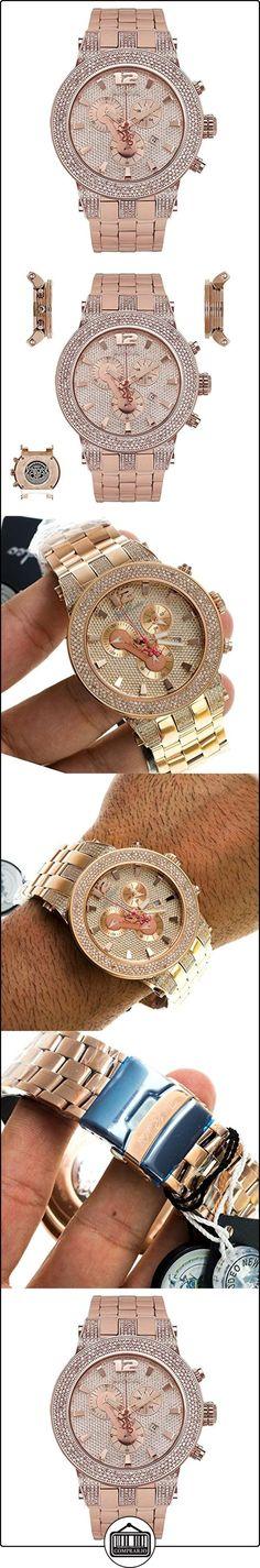 Joe de diamante reloj Rodeo para Hombre - BROADWAY 5 de quilate de oro rosa y cristales  ✿ Relojes para hombre - (Lujo) ✿