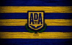 Download wallpapers Alcorcon FC, 4k, Segunda Division, soccer, football club, Spain, AD Alcorcon, logo, LaLiga2, wooden texture, FC Alcorcon