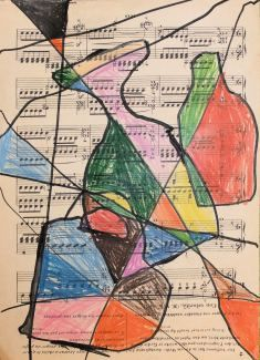 Cubism on Music Paper
