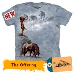 The Offering Horse Themed Adult Unisex Cotton T-Shirt Small-XLarge Listing in the Unisex,Clothes, Shoes, Accessories Category on eBid From Native American T Shirts, Native American Artwork, American Indian Art, Native American Indians, Native Americans, Native American Spirituality, Indian Horses, Unisex Clothes, Native Indian