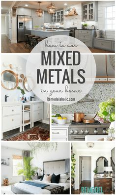 Outstanding smart home decor advice detail are offered on our site. look at this and you wont be sorry you did. Decor, Farm House Living Room, Home, Mixed Metals Decor, Cool Rooms, Home Decor Trends, Trending Decor, Metal Homes, Farmhouse Side Table