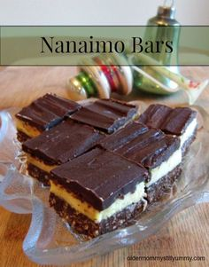 Recipe for the delicious, Canadian favourite, Nanaimo Bars