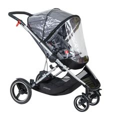 phil&teds voyager adaptable modular stroller charcoal grey fitted voyager storm cover £20