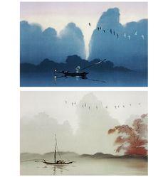 "Colour design for Disney's ""Mulan"" by Hans Bacher."