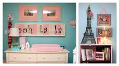 Design Dazzle Paris Theme Tiffany Blue Nursery. Love that its not super pink.