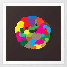 happy colour ball Art Print by Jesus Maldonado - $17.00