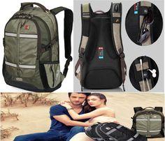 Unisex Swisswin Fashion Backpack 15-16 Macbook Pro Laptop Bag School Travel Bag