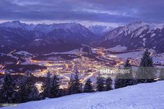 www.reutte.com 05-31 top view on reutte in the dawn, tirol, austria, winter... #reutte: 05-31 top view on reutte in the dawn, tirol, austria,… #reutte Austria Winter, Tirol Austria, Top View, Mount Everest, Dawn, Mountains, Nature, Travel, Outdoor