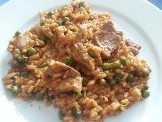 Djuvec Reispfanne mit Schweinegeschnetzeltem | Küchentigers Rezepte Blog